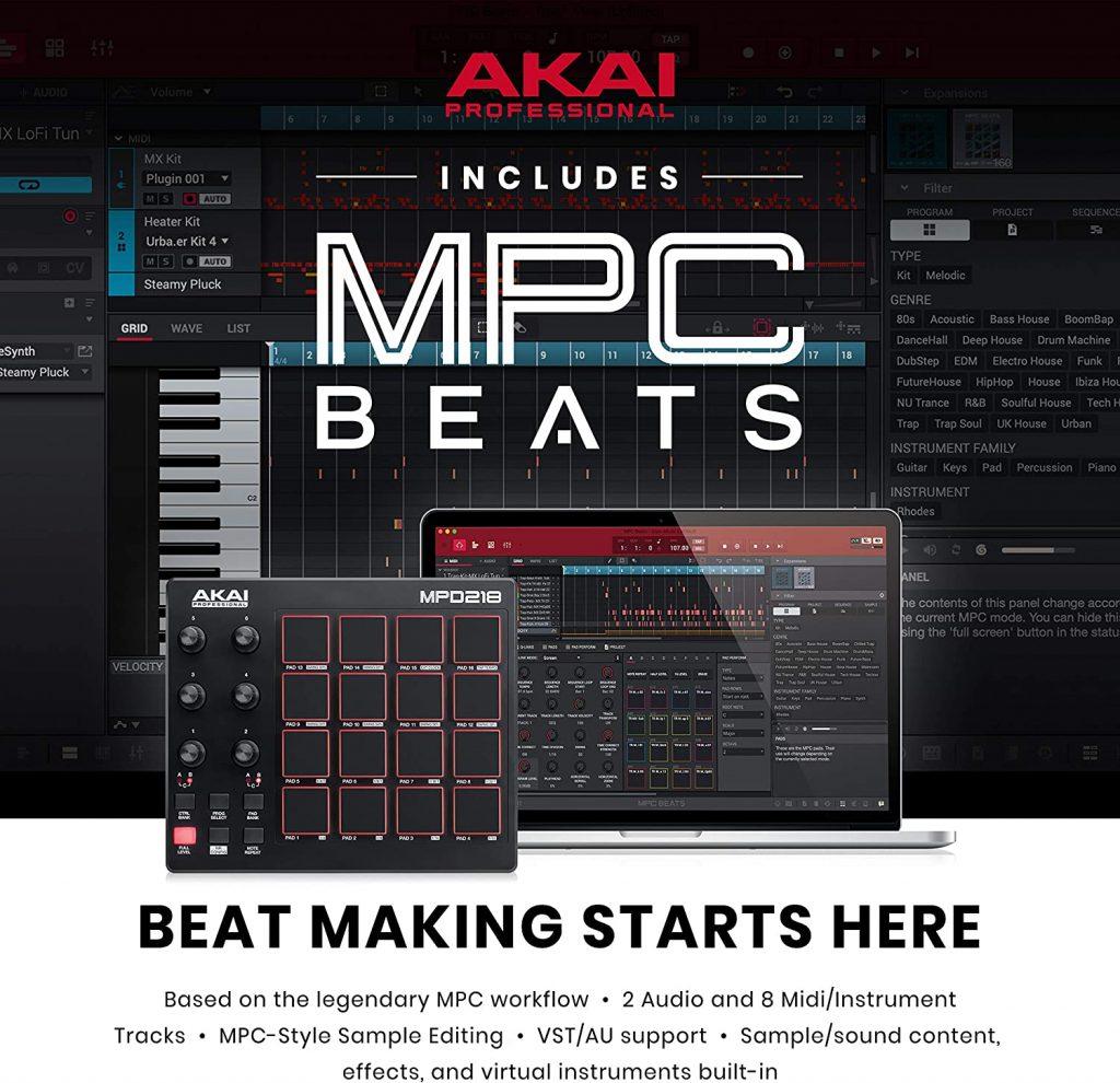 akai-mpd218-beats